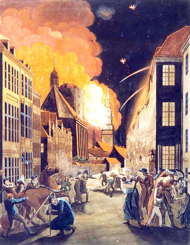 1805: Friedensbruch zwischen England und Dänemark (1807) naht. Abb. gemeinfrei